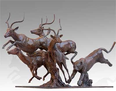 African Wildlife Bronze Sculpture Mike Barlow